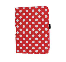 """NEW CASE COVER STAND POUCH PU RED WHITE DOT FOR AMAZON KINDLE FIRE HD 7"""" TABLET"""