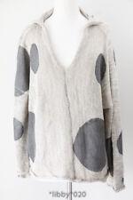 Skif Happy Circle Sweater Lagenlook Hemp Natural Cotton Art Casual Ski Oversized