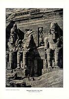 Temple Abu Simbel in Egypt XL 1906 art print by Ulbrich Pharaoh Ramses II