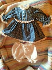 """Handdmade dress & bloomers to fit 11-1/2"""" VintageTiny Tears Doll"""