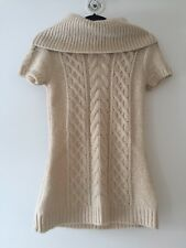 BCBG Maxazria Dress Sweater Wool Blend Cream Winter Mini Dress - Adorable! Small