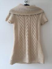BCBG Maxazria Cream Sweater Cowl Neck Wool Blend Mini Dress XS - adorable!