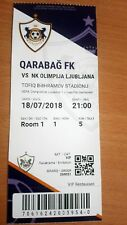 Qarabag Azerbaijan - NK OLİMPİJA LJUBLJANA the ticket champions league  cup