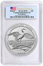 2018-P Cumberland NP 5 oz. Silver ATB Specimen Coin PCGS SP70 FS Flag SKU51777
