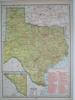 TX UT 1944 TEXAS RAILROAD MAP. ROSCOE SNYDER PACIFIC. UTAH 1940s WWII Era