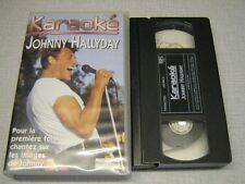 JOHNNY HALLYDAY K7 VIDEO ORIGINALE KARAOKE