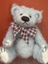 """Deb Canham'S """"Little Blue"""" Bigger Bears Collection-6 1/2"""" Jointed Mohair Bear"""