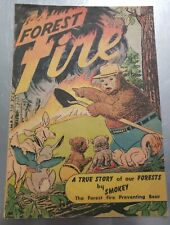 RARE VINTAGE 1950'S FOREST FIRE by SMOKEY   Promotional Giveaway Comic Book