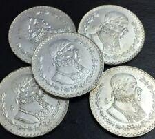 5 coins of Mexico 1 peso morelos 1957-67 silver great condition