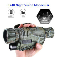 AU Night Vision Cam Goggles Monocular IR Wildelife Security Hunting Scope + 8GB