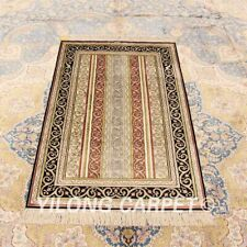 Yilong 2.5'x4' Patchwork Hand Knotted Carpets Classic Silk Handmade Rugs 842B