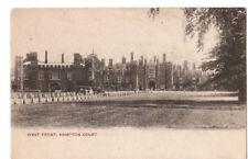 OLD POSTCARD - LONDON - West Front, Hampton Court c1910