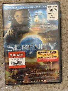 Serenity (DVD, 2005, Full Frame) Summer Glau, Nathan Fillion ~ New Sealed