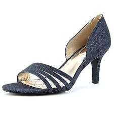 Alfani Womens NEW Giorjah Ink Sparkle Blue Open Toe Dress Pumps 7. M US Orig $80