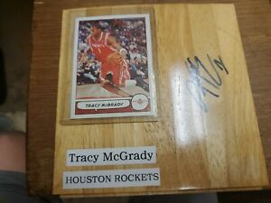 TRACY MCGRADY AUTOGRAPHED Floorboard Floor Piece WITH COA HOUSTON ROCKETS