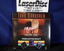 *LASERDISC* Todd Rundgren/Videosyncracy (5+=Free USPS)