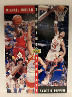 1992-93 Upper Deck #62 Michael Jordan Scottie Pippen Scoring Threats Last Dance