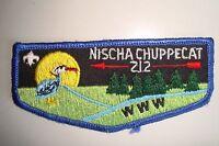 OA NISCHA CHUPPECAT LODGE 212 HOOSIER TRAILS COUNCIL PATCH BIRD SERVICE FLAP