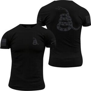 Grunt Style Concealed Gadsden Crewneck T-Shirt - Black