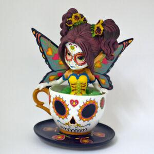 Jasmine Becket-Griffith JBG MARVELOUS MARIGOLD Teacup Fairy Figurine NEW