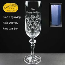 Personalised Champagne Flute Birthday Gift 76th 77th 78th 79th 80th 81st 82nd