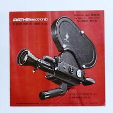 Cinema - Catalogo Epoca - Brochure Cinepresa Pathè Electronic 16mm - 1970 ca.