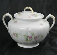 GDA Limoges Charles Field Haviland Sugar Bowl with Wild Pink Roses France