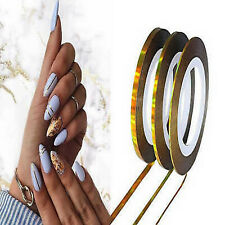 NAIL STRIPING TAPE NAIL STRIPE TAPE NAIL ART STICKERS METALLIC GOLD 1mm 2mm 3mm