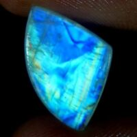 Amazing 100% Natural Blue Fire Rainbow Moonstone Fancy Cabochon Loose Gemstone