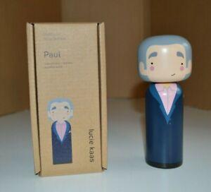 PAUL SMITH Lucie Kaas Kokeshi Doll Wood Blue Face Paul Smith New Box Home Design