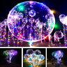 Luminous LED Balloon Bubble Helium Balloons Lights Wedding Party Xmas Decoration