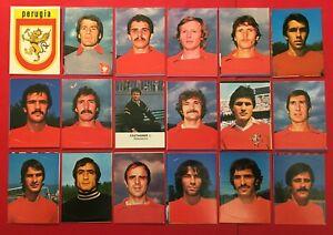 LOTTO DI 18 FIGURINE CALCIATORI LAMPO 1977-78 SQUADRA COMPLETA PERUGIA