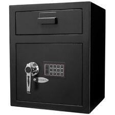 Barska Large Keypad Depository Safe w/ Door Drop Slot & Back-up Keys, AX11930
