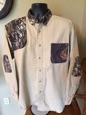 Men's REDHEAD Deer Camouflage &Tan Long Sleeve Hunting Shirt Quilted Shoulder LG