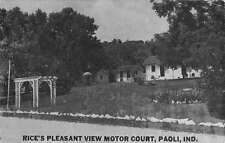Paoli Indiana Rices Motor Court Street View Vintage Postcard K42262