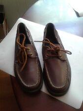 POLO Ralph Lauren Brown Leather Boat Deck Shoes Men Sz 9.5