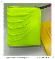 Alexander McQueen Limited Edition Fluorescent Yellow Zippered Rib Cage Wallet 👀