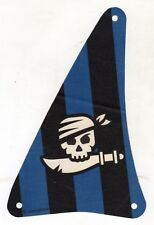 LEGO 7072 Cloth Sail Triangular with Black Stripes and White Skull with bandana
