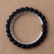 Fashion 8Mm Solid Simple Bracelet Natural Stone Beaded Stretch Charm Bracelets