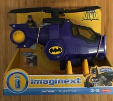 IMAGINEXT Batgirl Bat Girl  Helicopter Batman Dc Super Friends Set New In Box
