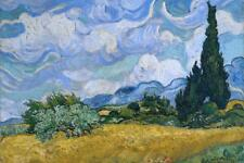 Vincent Van Gogh Wheat Field With Cypresses Art Print Poster 24x36 inch