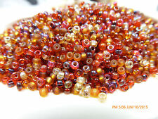 8/0 Cranberry Harvest Bead Mix Miyuki Round Glass Seed Beads 10 Grams