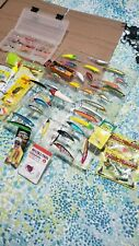 Lot Of 36+ Fishing Lures, Jigs, Browning Knife, and other miscellaneous Tackle.