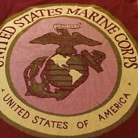 United States Marine Corp Semper Fidelis Insignia Blanket Lt Corporal USA 46x70""