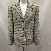 Womens Size 16 M&S Checked Formal Single Breasted Checked Jacket Ladies