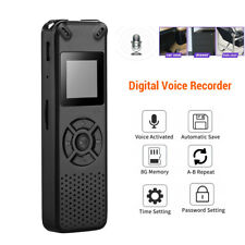 Portabele Digital 8GB Grabadora de Voz Sonido Activado Dictaphone Usb Recargable