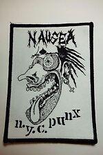 NAUSEA N.Y.C. PUNK   WOVEN  PATCH