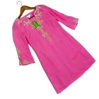 Lilly Pulitzer Xs Copeland Tunic Dress In Hotty Pink New! MSRP $198