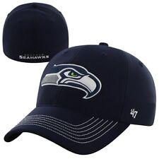 Seattle Seahawks 47 Brand Game Time Closer Hat Stretch Fit Flex Cap