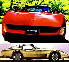 1982 CHEVY CORVETTE BROCHURE -CORVETTE COLLECTOR EDITION-CHEVROLET CORVETTE-L83